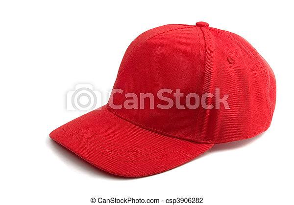 boné, basebol, vermelho - csp3906282