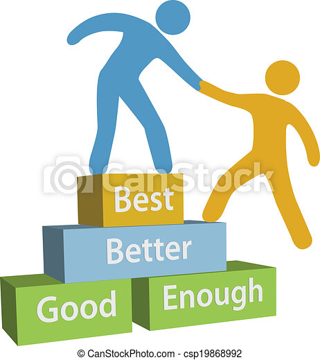 bon, aide, gens, mieux, mieux, accomplissement - csp19868992