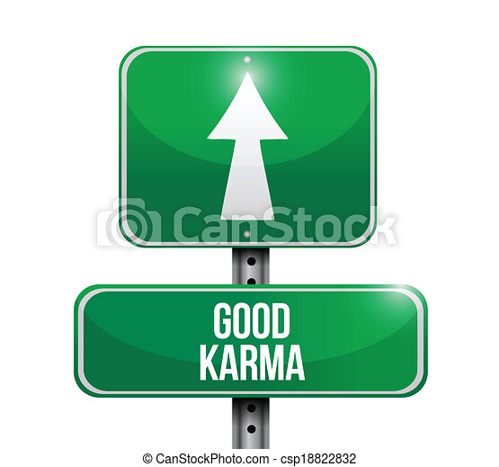 bon, conception, karma, illustration, signe - csp18822832