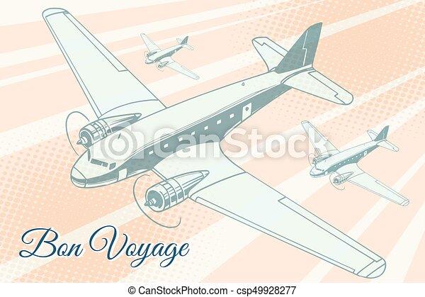 Bon voyage aviation background - csp49928277