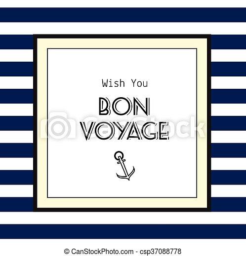 Bon voyage card - csp37088778