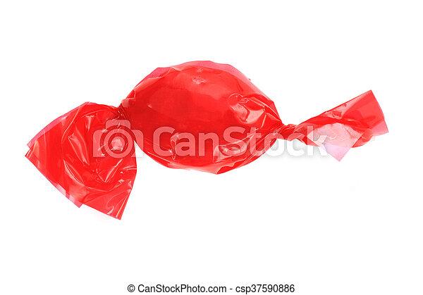 Bonbon Freigestellt Rotes Bonbon Weißes Freigestellt