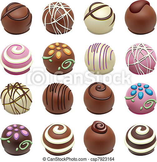 bonbons, vecteur, chocolat - csp7923164