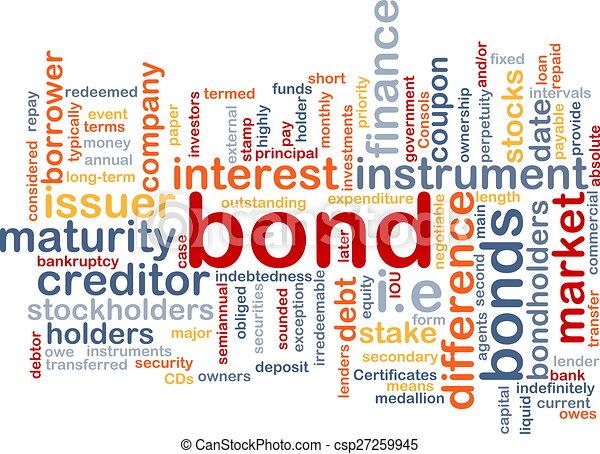 Bond wordcloud concept illustration - csp27259945