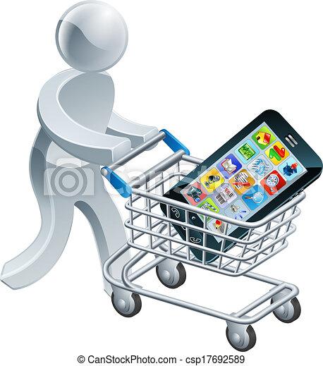 Bonde telefone empurrar m vel pessoa bonde grande for Compra online mobili