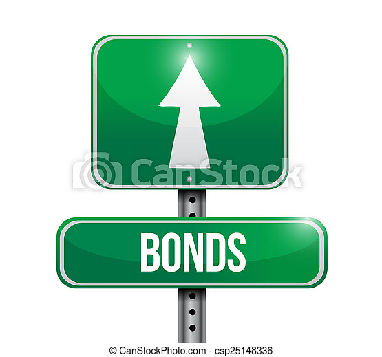 bonds street sign illustration design - csp25148336