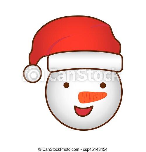 Boneco Neve Rosto Desenho Natal Caricatura Boneco Neve Natal