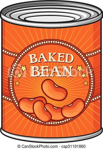 bonen, tin, bakt - csp31191860