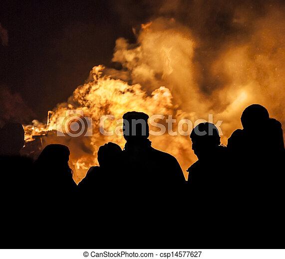 Bonfire Crowd - csp14577627
