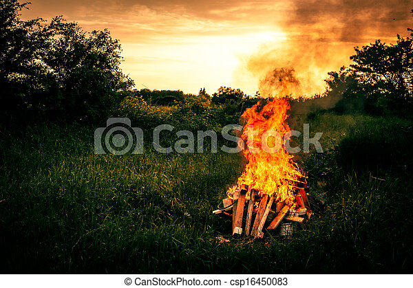 Bonfire scenery - csp16450083