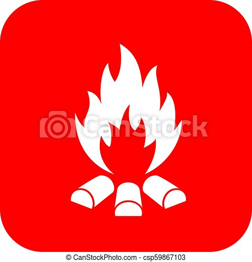 Bonfire vector sign - csp59867103