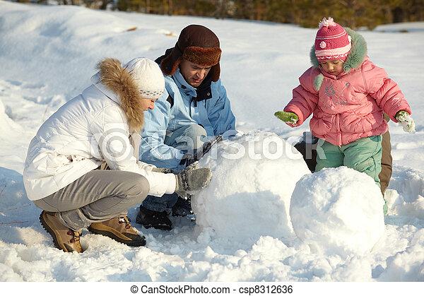 bonhomme de neige, confection - csp8312636