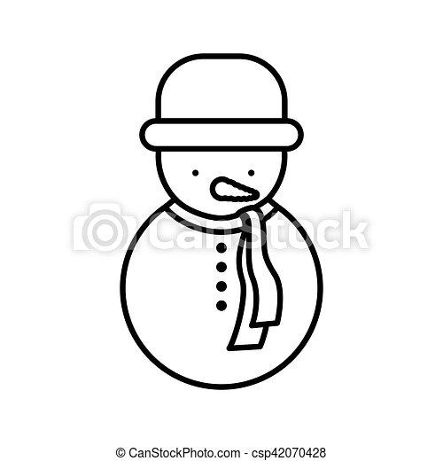 Bonhomme de neige manteau silhouette chapeau bonhomme - Dessin de manteau ...