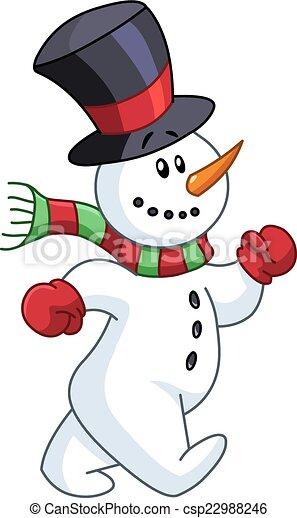 bonhomme de neige, marche - csp22988246