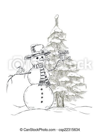 bonhomme de neige - csp22315634