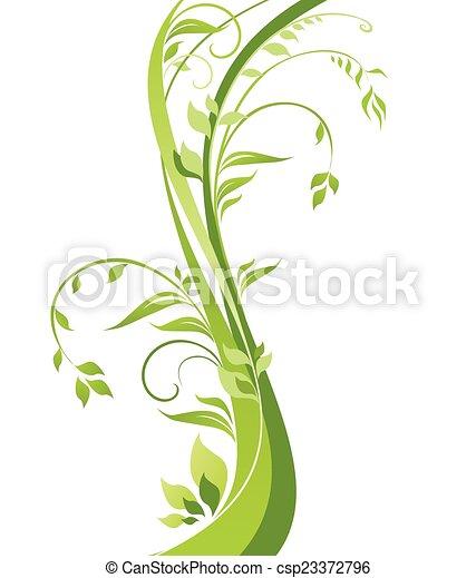 bonito, árvore verde - csp23372796