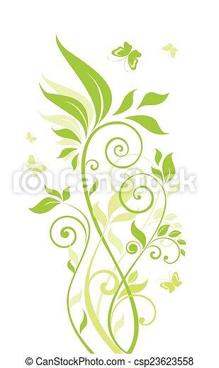 bonito, árvore verde - csp23623558