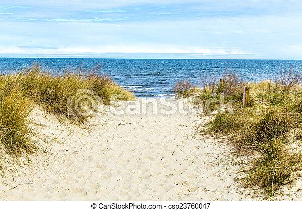 bonito, báltico, praia, mar - csp23760047