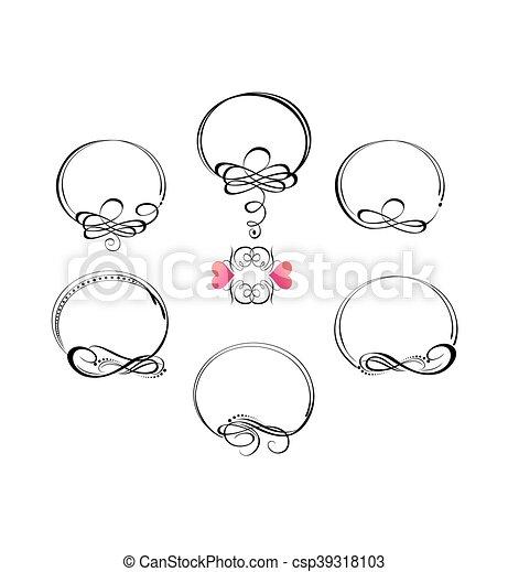 bonito, casório, frames., collectio - csp39318103