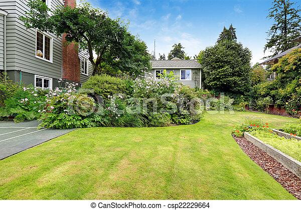 bonito, casa, jardim - csp22229664