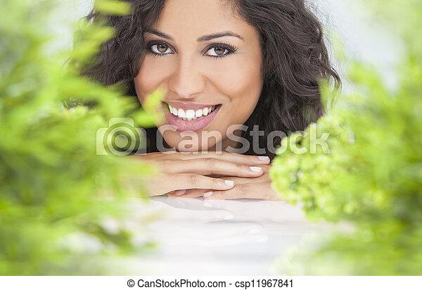 bonito, conceito, natural, mulher, saúde, sorrindo - csp11967841