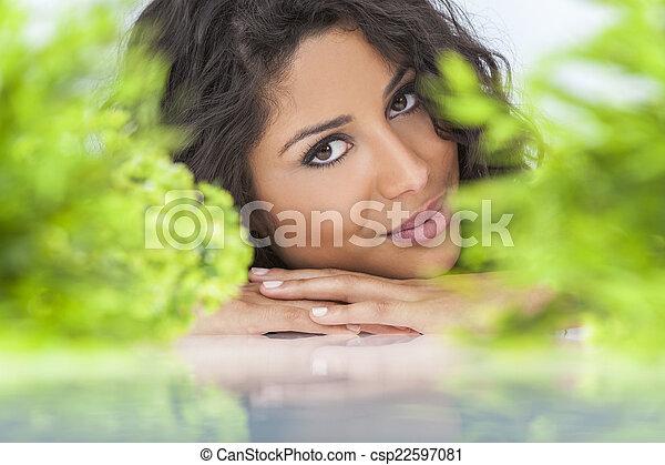 bonito, conceito, natural, mulher, saúde, sorrindo - csp22597081