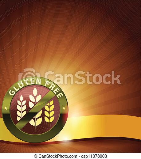 bonito, desenho, gluten, livre - csp11078003