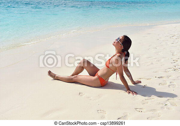 bonito, divertimento, praia, gril, ter - csp13899261