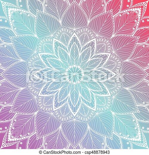 Bonito Floral Mandala Coloridos Fundo Bonito Coloridos
