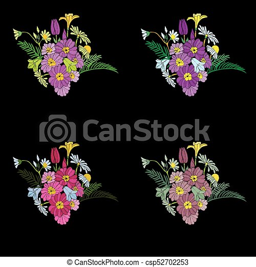 Bonito Flores Desenho Bordado Elements Bonito Desgastar