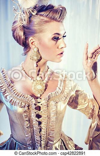 bonito, foto, estilo, moda, loiro - csp42822891