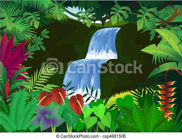 bonito, fundo, natureza - csp4681508