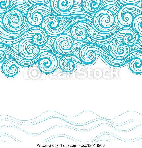 bonito, fundo, onda - csp12514900