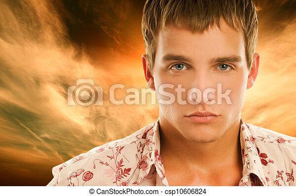 bonito, homem jovem - csp10606824