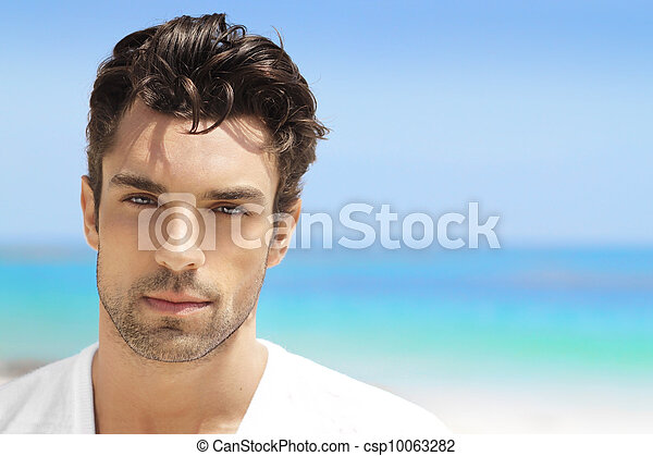 bonito, homem jovem - csp10063282