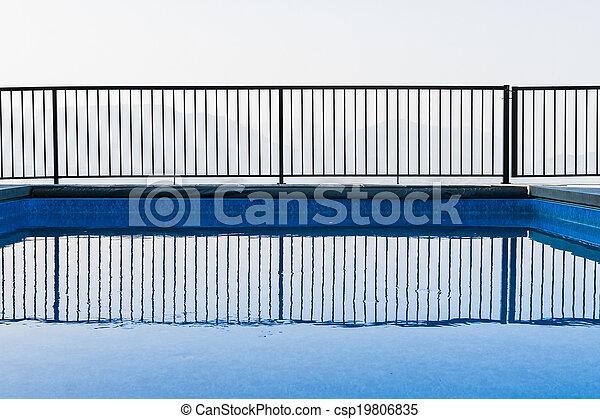 bonito, instalação, piscina - csp19806835