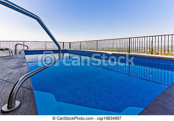 bonito, instalação, piscina - csp19834997