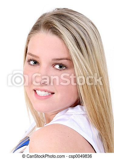 bonito, menina adolescente - csp0049836