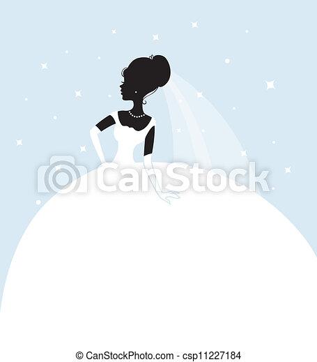bonito, noiva, vestido branco - csp11227184