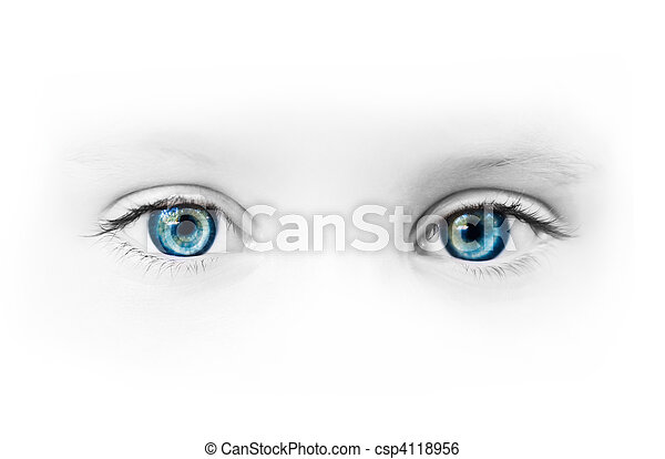 bonito, olhos azuis - csp4118956