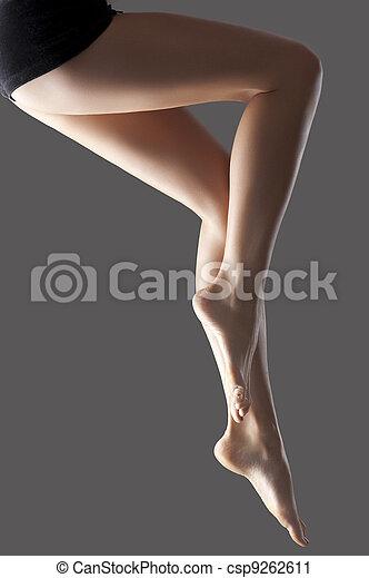 bonito, pernas, jovem, longo - csp9262611