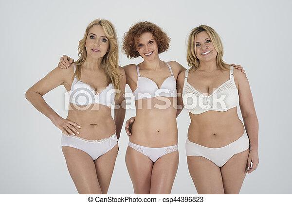 bonito, retrato, roupa interior, natural, mulheres - csp44396823