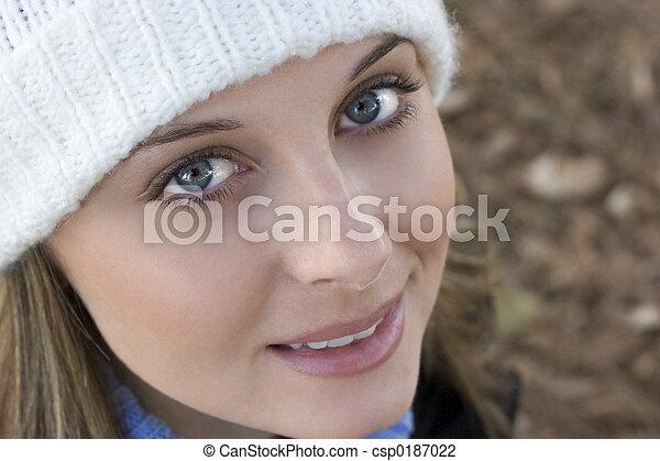 bonito, rosto - csp0187022