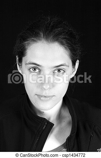 bonito, russo, mulher, closeup - csp1434772