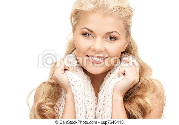 bonito, silenciador, mulher - csp7640415
