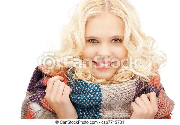 bonito, silenciador, mulher - csp7713731