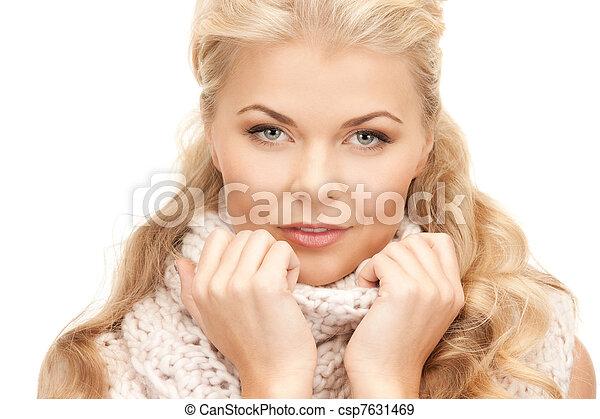 bonito, silenciador, mulher - csp7631469