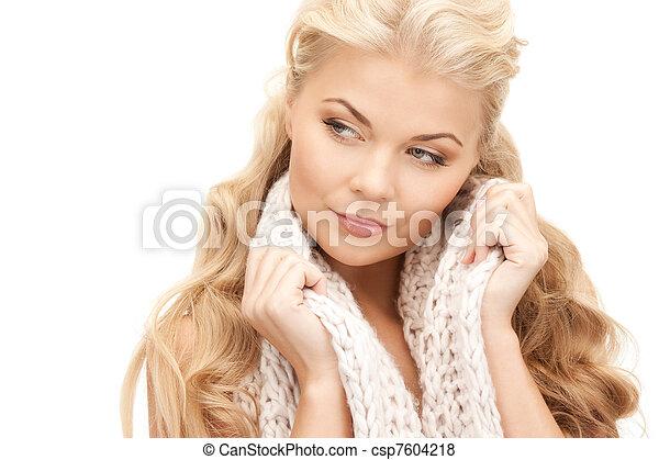 bonito, silenciador, mulher - csp7604218