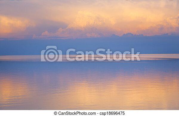 bonito, verão, mar, luz, abstratos, fundo - csp18696475