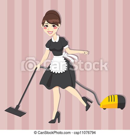 bonne, agréable, femme foyer - csp11076794